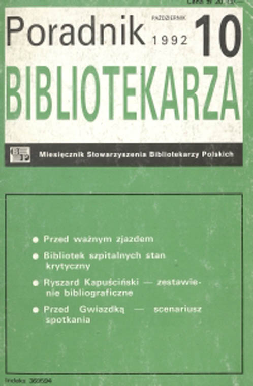 Poradnik Bibliotekarza 1992, nr 10